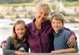 Patricia Hamilton, with grandchildren, Grace and Zack.